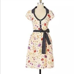 Anthropologie Viola Polka Dot Retro Pin-Up Dress